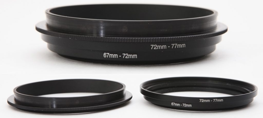 Adapter rings for Mamiya G2 bellows hood (RB67 and RZ67)