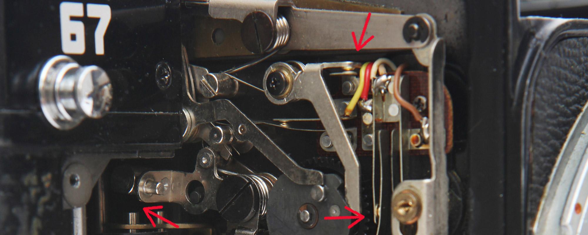 Pentax 67 MLU stuck mirror repair