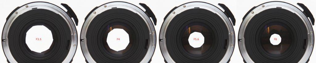 Pentax 67 105mm F2.4 - aperture opening