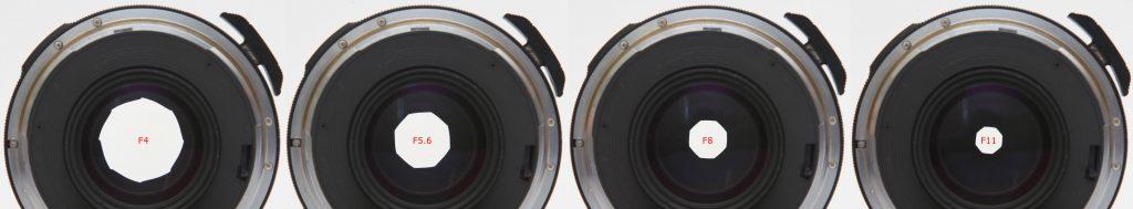 Pentax 67 90mm f/2.8 aperture opening