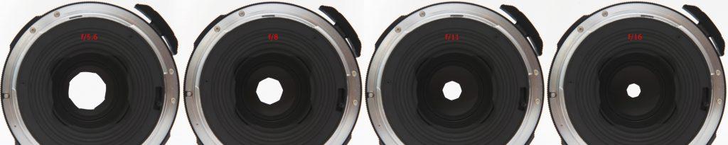 Pentax 67 135mm f/4 Macro - aperture opening