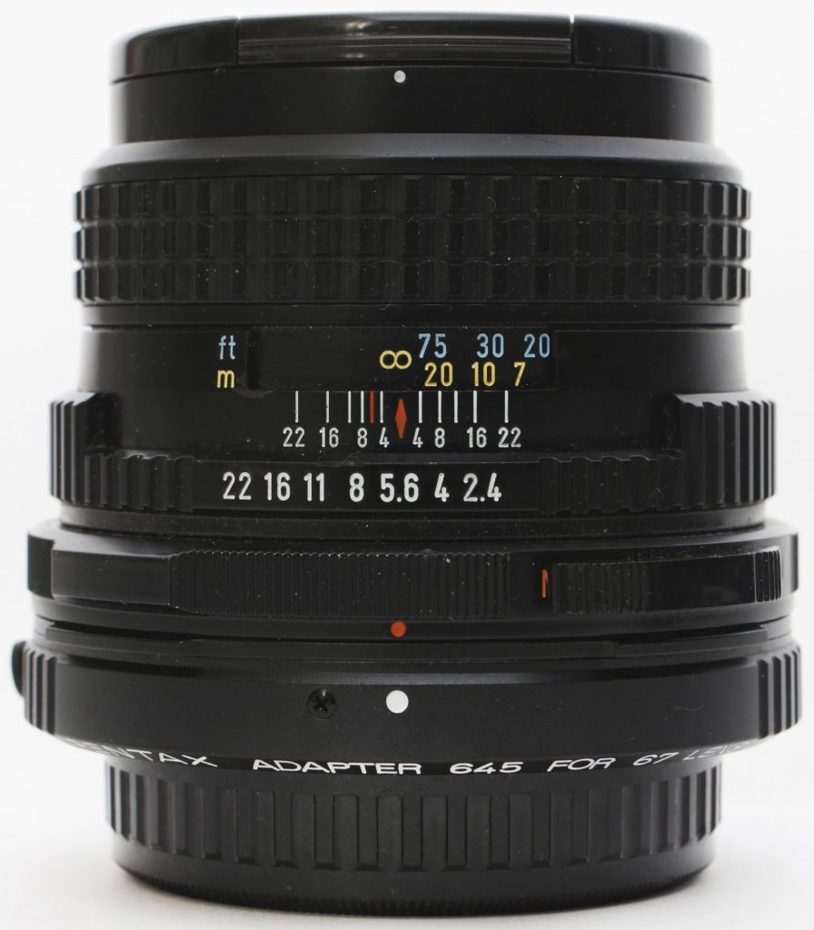 Pentax adapter 645 for 67 lens and 105mm f/2.4