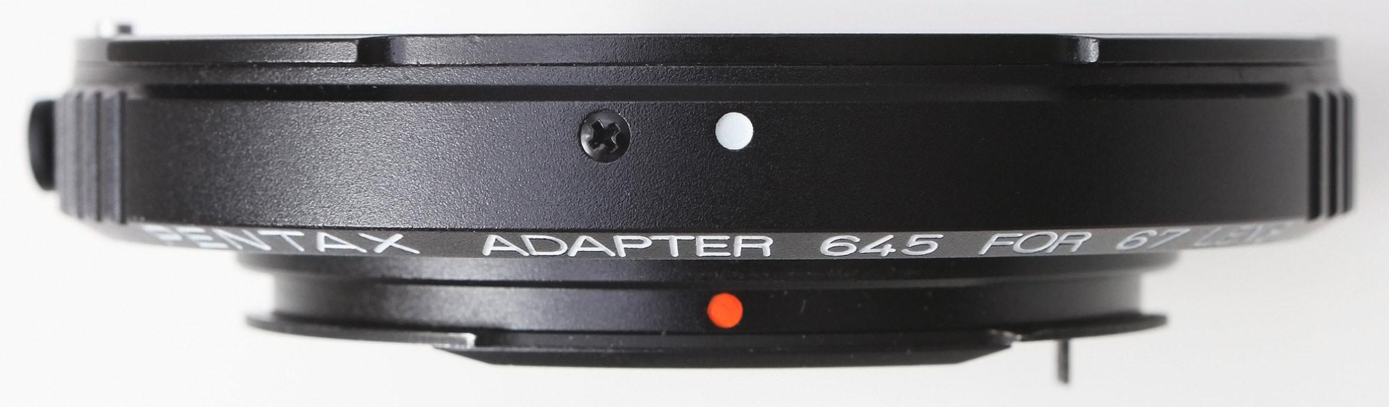 Pentax adapter 645 for 67 lens