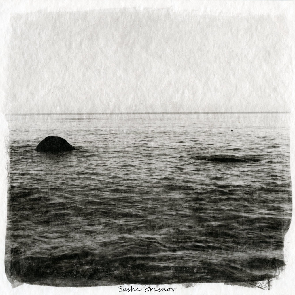 Two stones, Curonian Spit // Photography print © Sasha Krasnov
