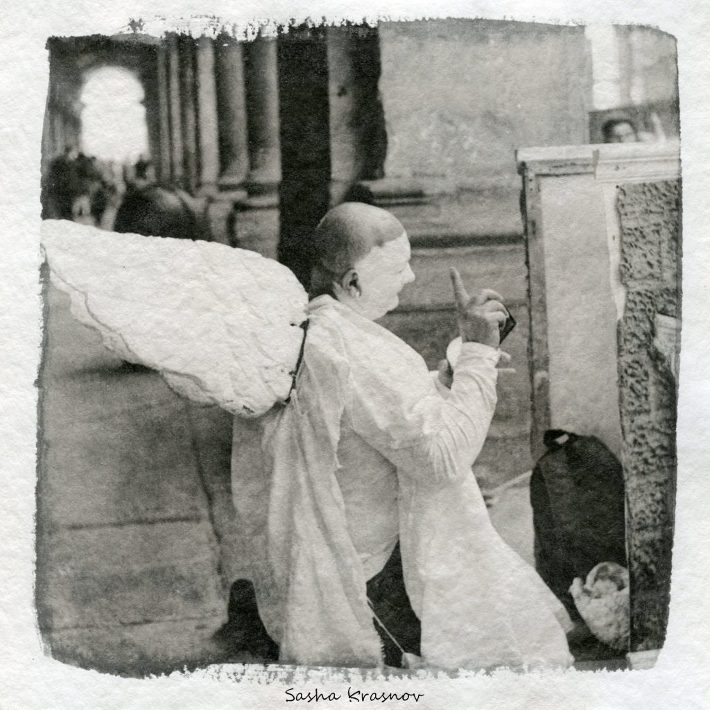 The Cupid. Uffizi, Florence. Street photography print on Hahnemuhle watercolor paper, Fomaspeed liquid emulsion © Sasha Krasnov