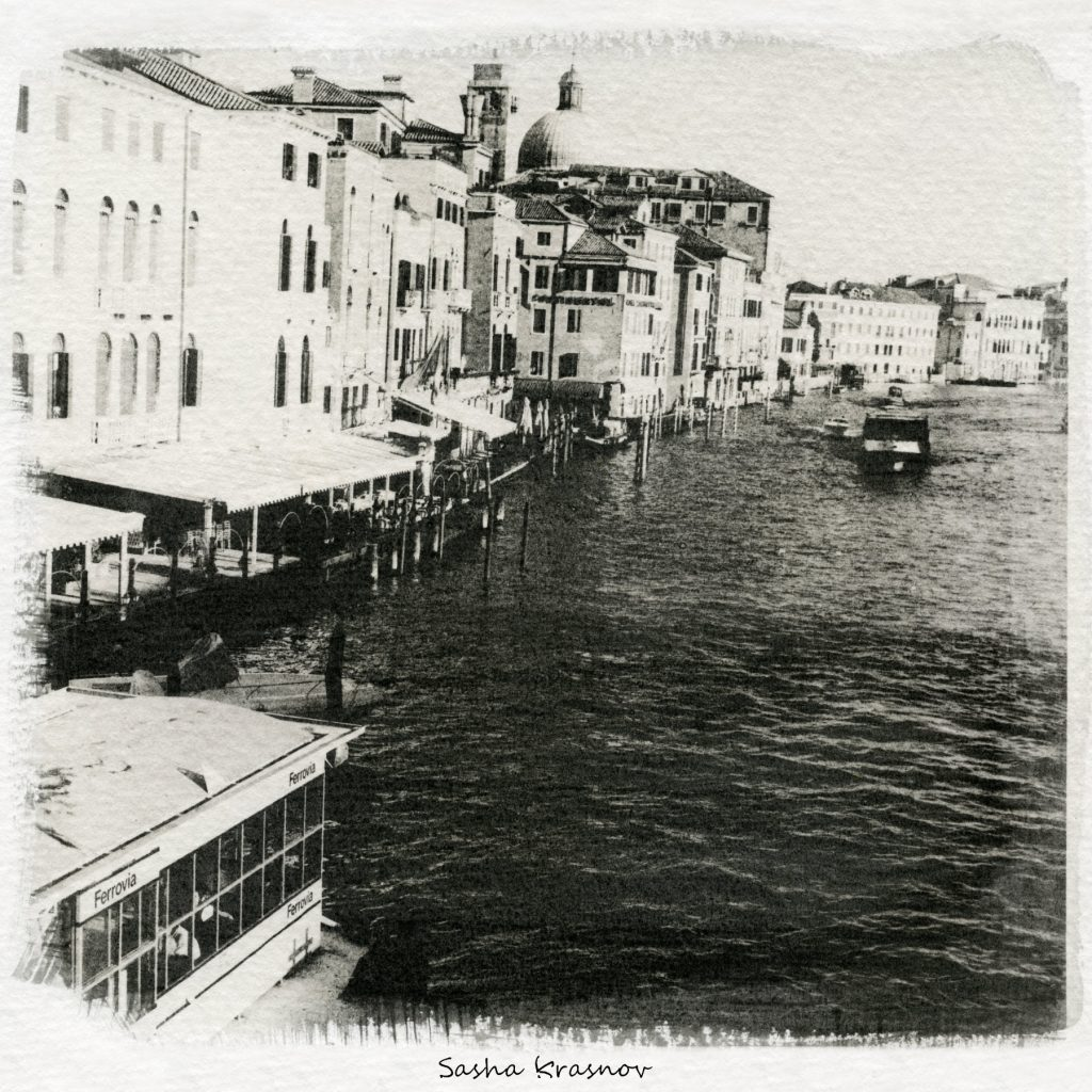 Grand Canal, Railroad station. Venice // Photography print © Sasha Krasnov