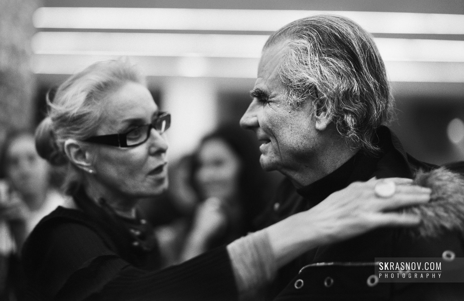 Olga Sviblova, head of Moscow House of Photography and Patrick Demarchelier, photographer © Sasha Krasnov Photography