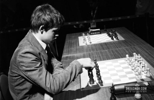 Magnus Carlsen, chess grandmaster. Portrait before game © Sasha Krasnov Photography