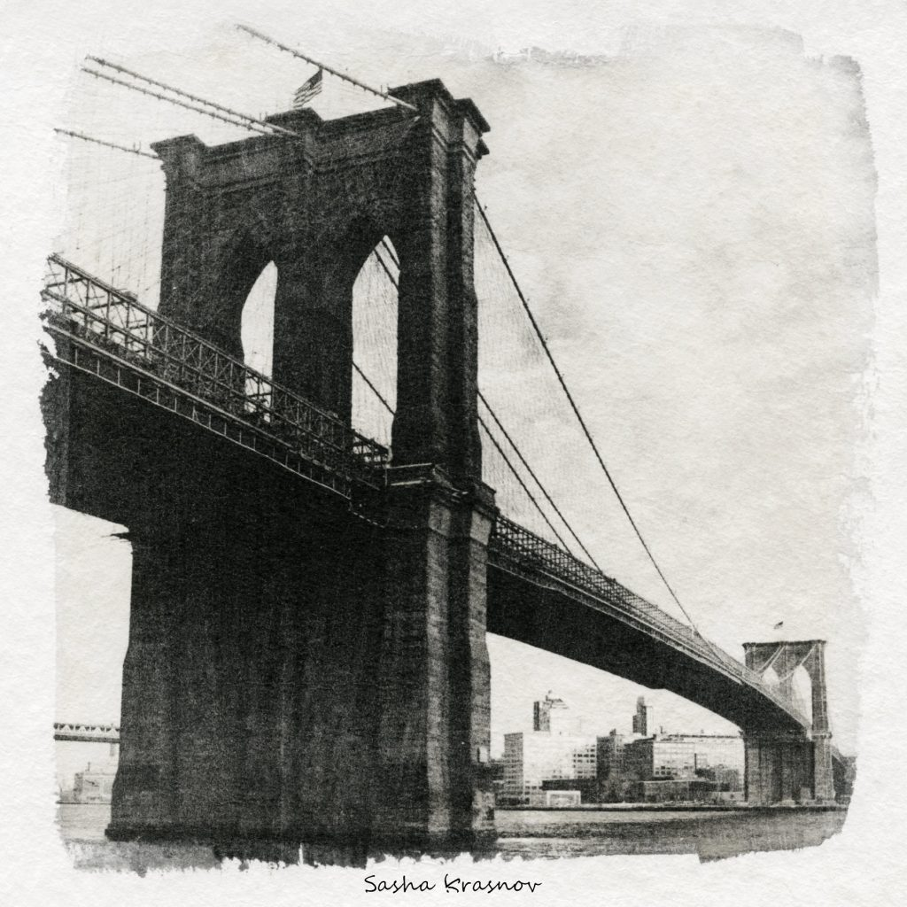 Brooklyn Bridge, New York // Photography print © Sasha Krasnov
