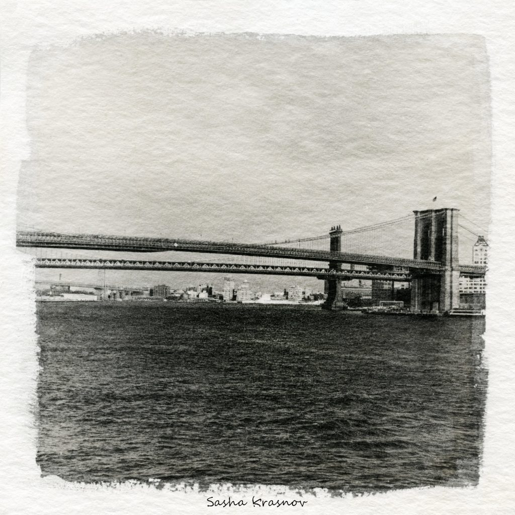 East River, New York // Photography print © Sasha Krasnov