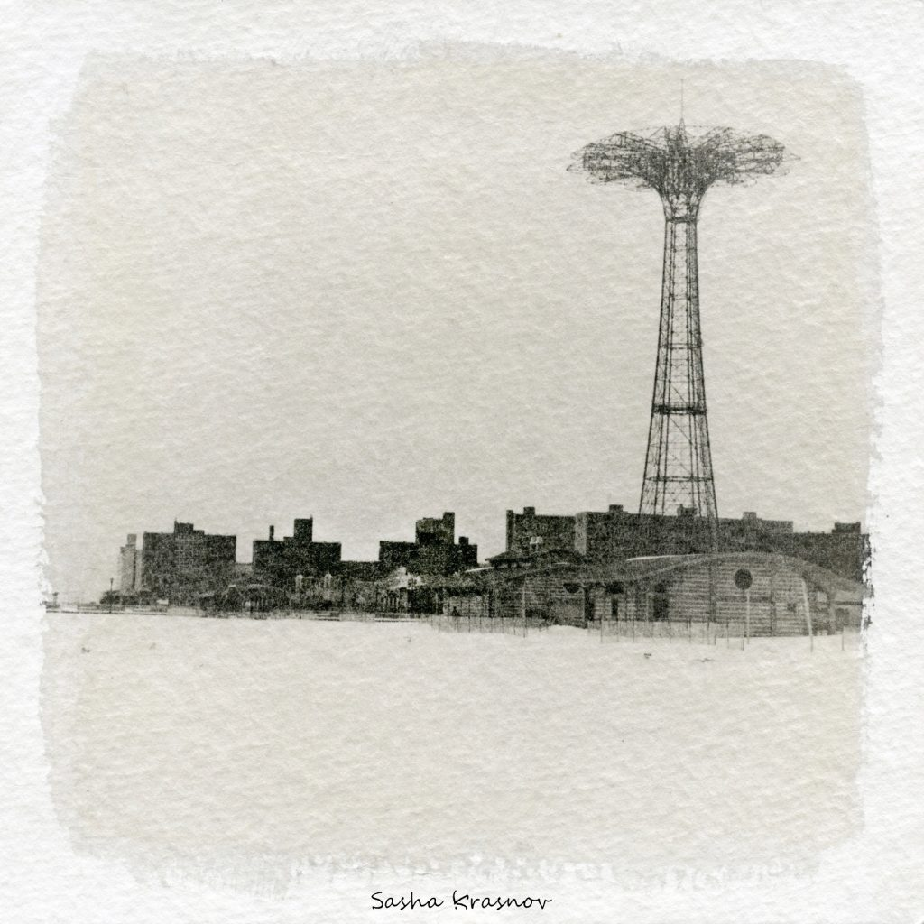 Coney Island Parachute Tower. New York // Photography print © Sasha Krasnov