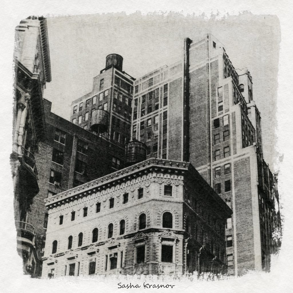 Water tanks, New York // Photography print © Sasha Krasnov