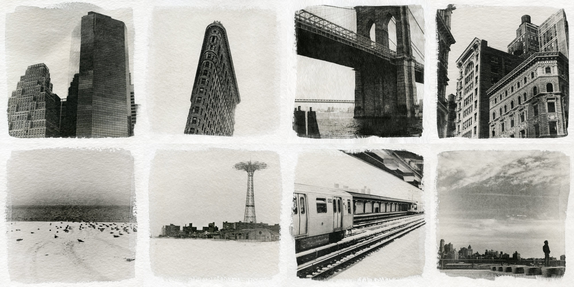 New York City prints, Fomaspeed liquid emulsion, watercolor paper © Sasha Krasnov Photography