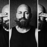 German Vinogradov, artist, musician, performer. Collage, Pentax 67 © Sasha Krasnov