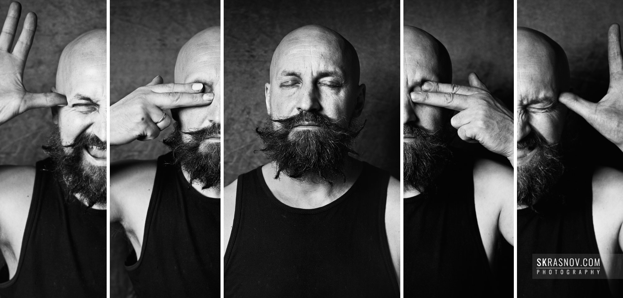 German Vinogradov, artist, musician, performer. Collage, Pentax 67 © Sasha Krasnov Photography
